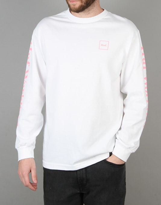 HUF Domestic Long Sleeve T-Shirt - White/Pink
