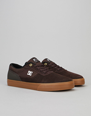 DC Switch S Skate Shoes - Brown/Gum