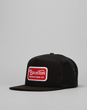 Brixton Grade Trucker Cap - Black/Red