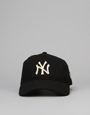 New Era MLB New York Yankees Wool Stitch 9Twenty Snapback Cap - Black