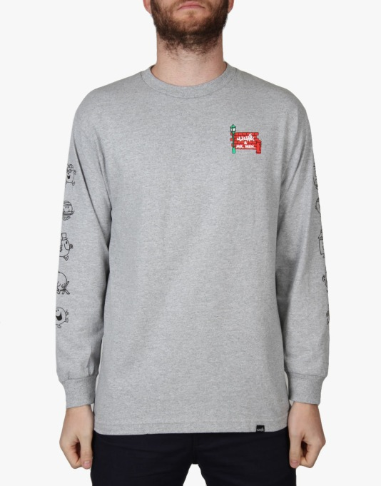 Cliché x Mr. Men L/S T-Shirt - Athletic Heather