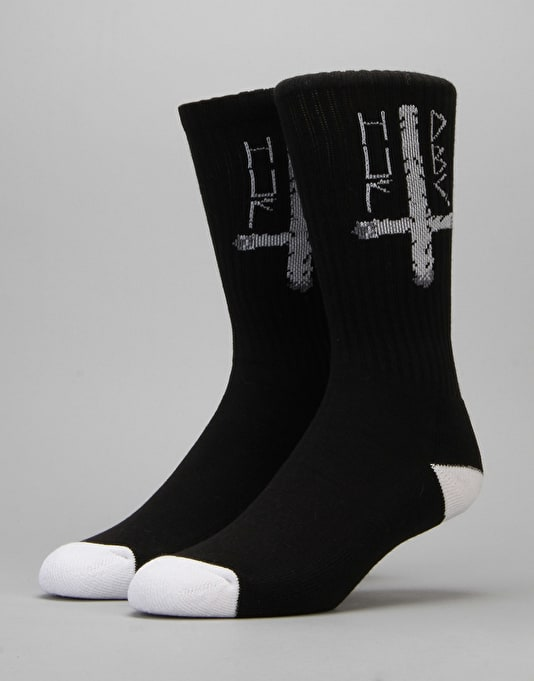 HUF x Ty Dolla $ign Ashes To Ashes Crew Socks - Black