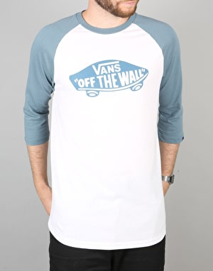 Vans OTW Raglan T-Shirt - White/Blue Mirage