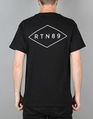 Route One Stamp T-Shirt - Black