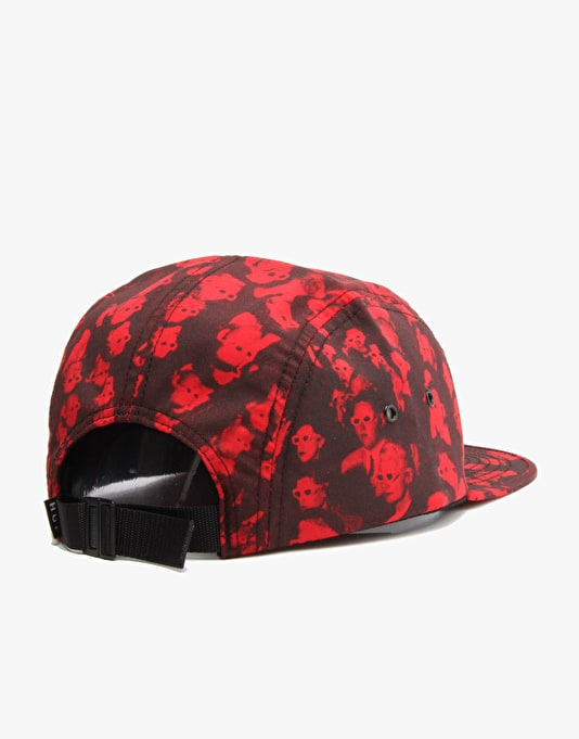 HUF 3D Box Logo Volley 5 Panel Cap - Red