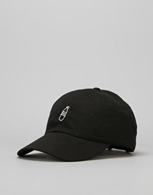 40's & Shorties Scribble Logo Unstructured Strapback Cap - Black