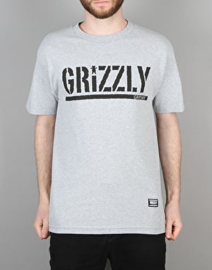 Grizzly OG Stamp Logo T-Shirt - Heather Grey