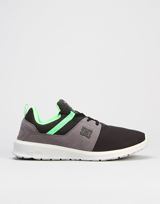 DC Heathrow Skate Shoes - Black/Grey/Green