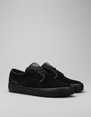 Lakai Riley Hawk Skate Shoes - Black/Black Suede