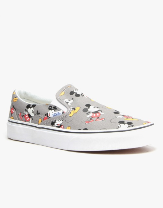 Vans Classic Slip - On - (Disney) Mickey/Frost Grey