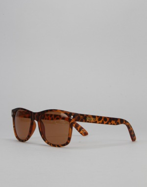 Glassy Sunhater Leonard Sunglasses - Brown Tort
