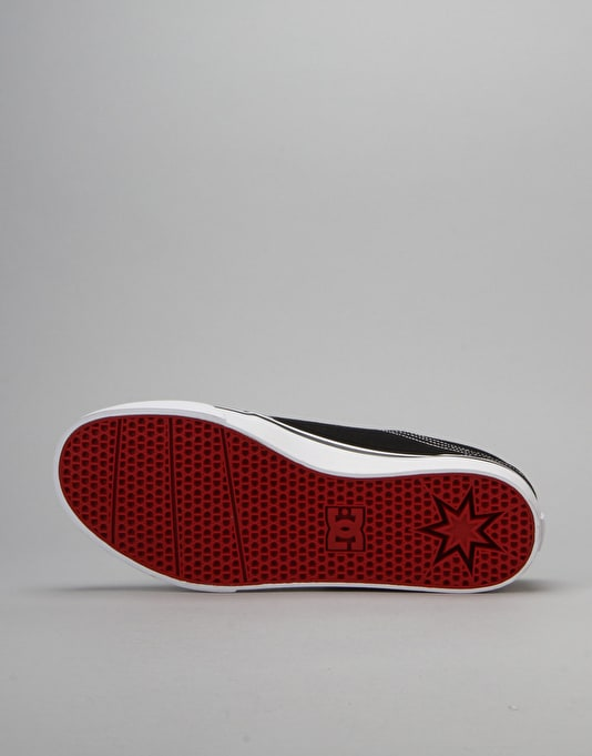 DC Trase Skate Shoes - Black/White/Red