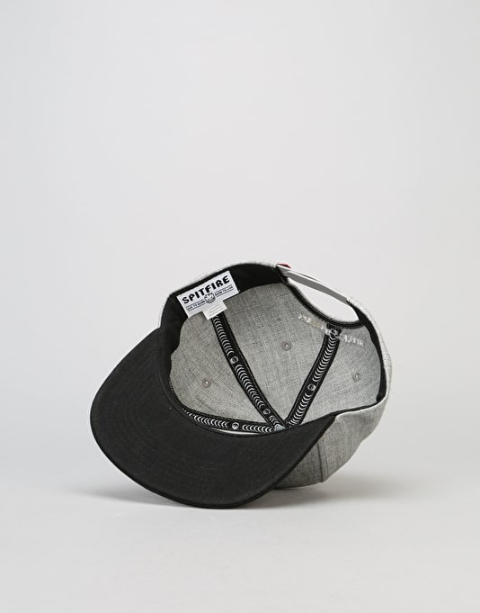 Spitfire Bighead Fill Snapback Cap - Heather Grey/Black