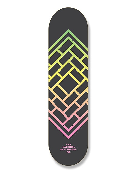 The National Skateboard Co. Fade Team Deck - 8.375""