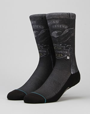 Stance x Harley Davidson Shovel Head Socks - Black