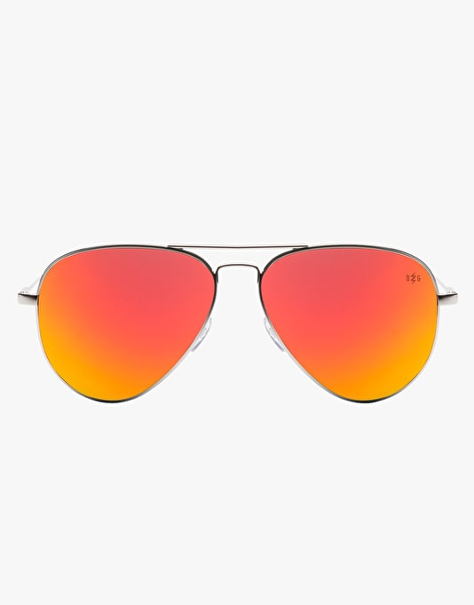 Electric AV1 'David G' Sunglasses - Platinum/Medium Grey/Fire Chrome