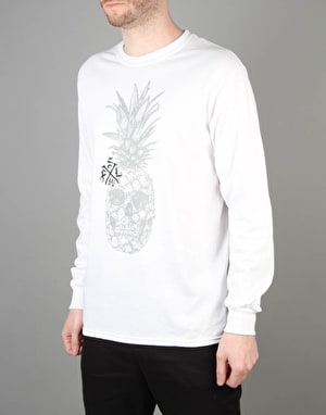 Scarred For Life Pineskull LS T-Shirt - White