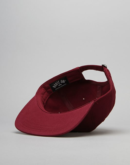 Route One VX 6 Panel Unstructured Cap - Maroon