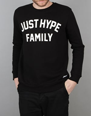 Hype Applique Crew Sweatshirt - Black