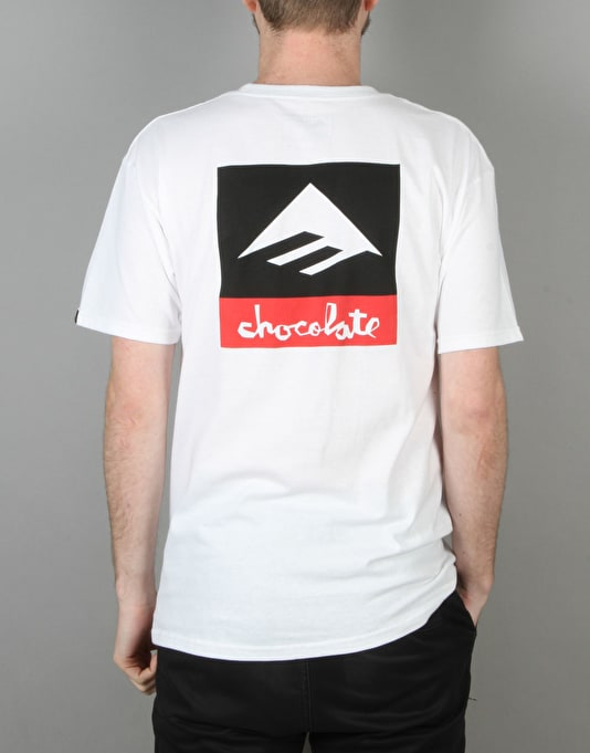 Emerica x Chocolate Logo T-Shirt - White