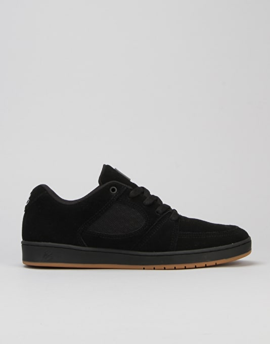 éS Accel Slim Skate Shoes - Black Black Gum
