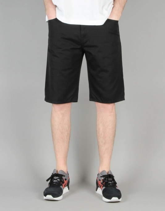 Carhartt Davis Short - Black Rinsed