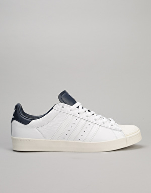 Adidas Superstar Vulc ADV Skate Shoes - White/White/Collegiate Navy