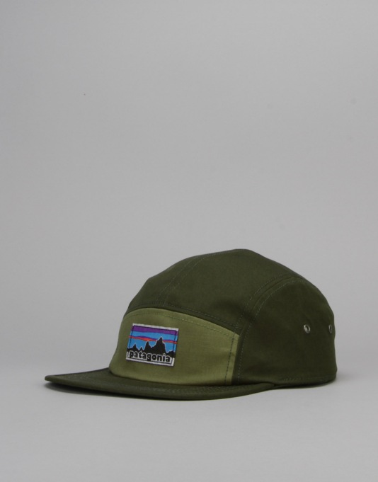 Patagonia Retro Fitz Roy Label Tradesmith 5 Panel Cap - Fatigue Green
