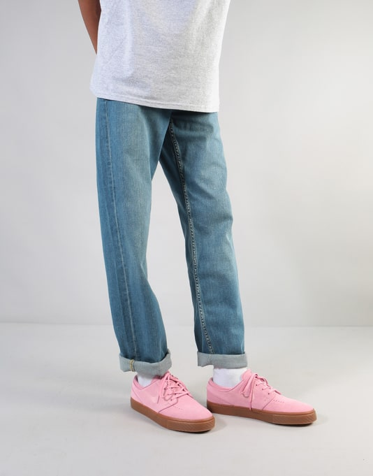 Route One Relaxed Denim Jeans - Washed Blue