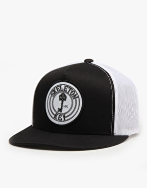 Skeleton Key Logo Trucker Cap - Black