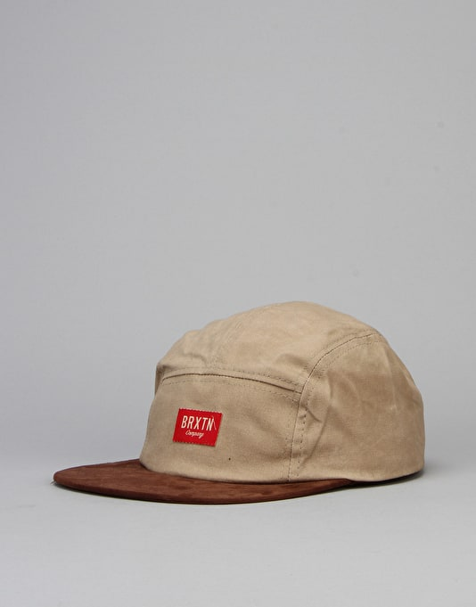 Brixton Hoover 5 Panel Cap - Tan/Brown