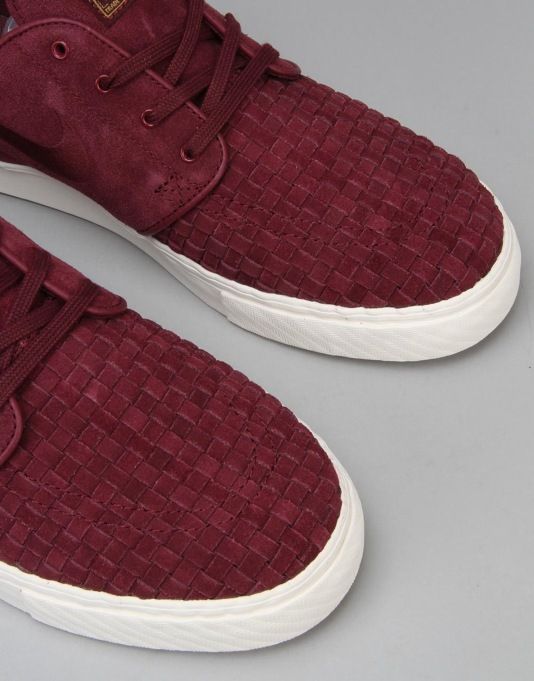 Nike SB Zoom Stefan Janoski Elite Skate Shoes - Burgundy
