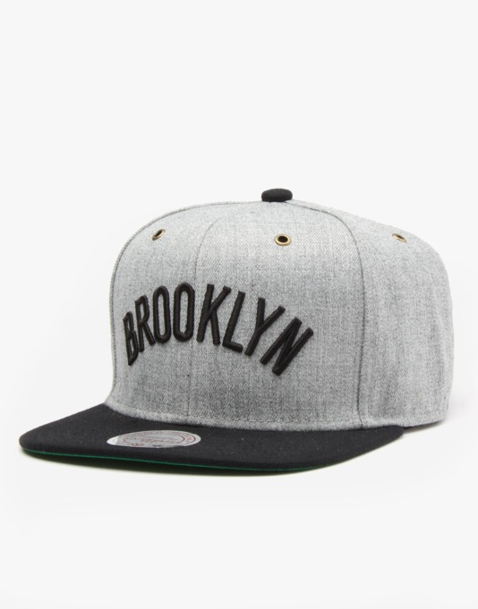 Mitchell & Ness NBA Brooklyn Nets Heather Wool Snapback Cap - Heather
