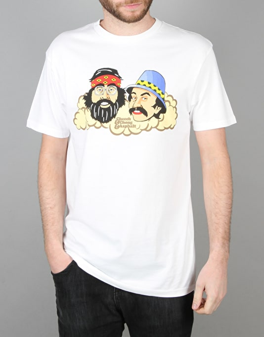 Asphalt Yacht Club x Cheech and Chong Asphalt T-Shirt - White