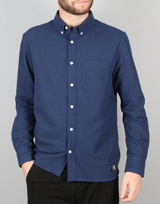 DC Oxford 3 L/S Shirt - Varsity Blue