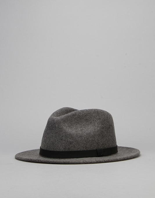 Brixton Messer Fedora Hat - Heather Grey