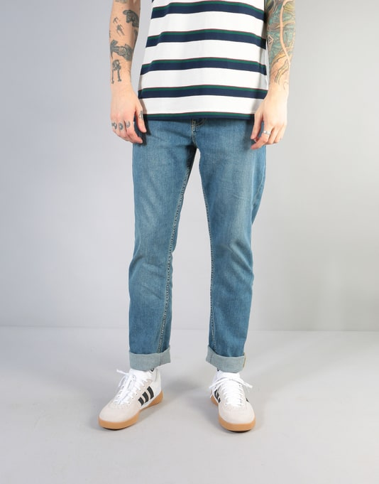 Route One Slim Denim Jeans - Washed Blue