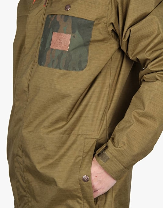 DC Delinquent 2016 Snowboard Jacket - Military Olive
