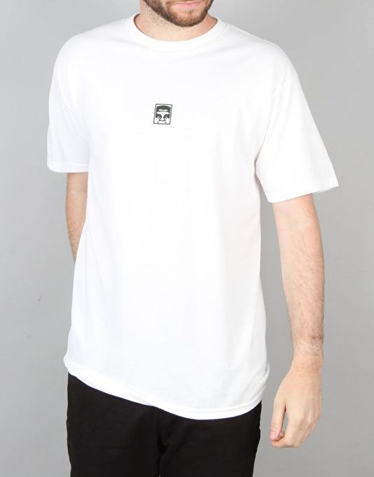 Obey Half Face T-Shirt - White