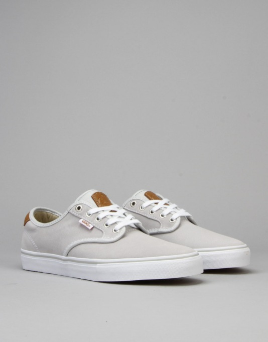 Vans Chima Ferguson Pro Skate Shoes - Light Grey/White