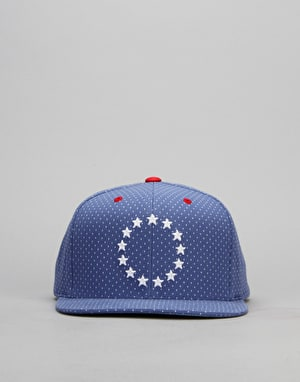 Mitchell & Ness NBA Philadelphia 76ers Dotted Snapback Cap - Blue