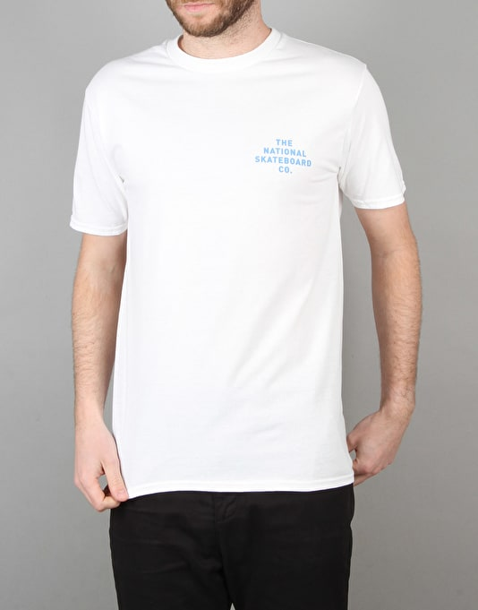 The National Skateboard Co. Bastille T-Shirt - White
