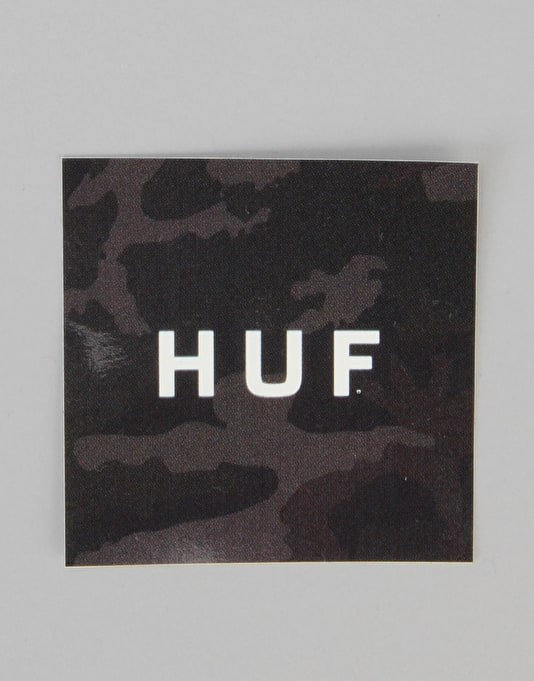 HUF Standard Issue Box Logo Sticker - Camo