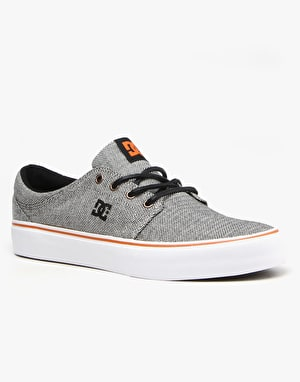 DC Trase TX SE Skate Shoes - Grey/Orange/Grey