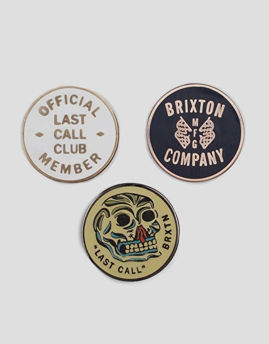 Brixton Last Call Pin Pack