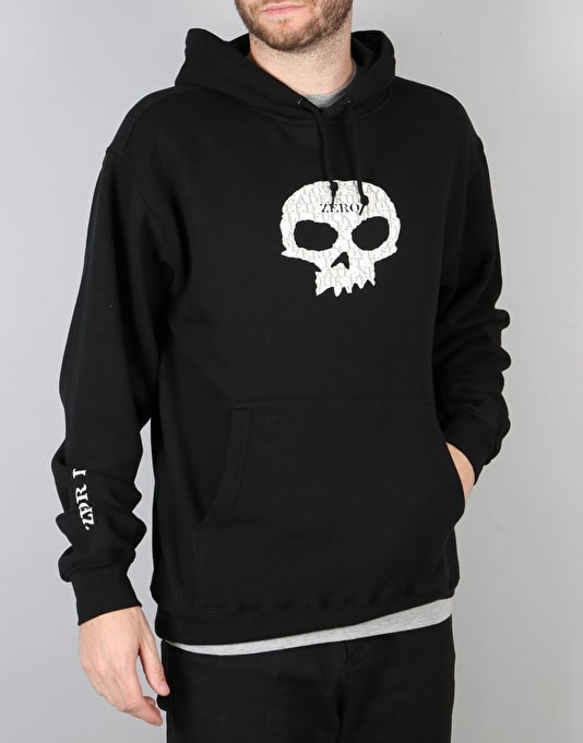 Zero OG Single Skull Pullover Hoodie - Black
