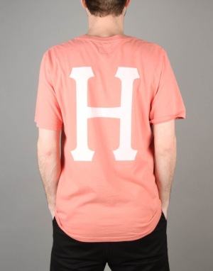 HUF Classic H Pigment Dyed T-Shirt - Smoke Pink