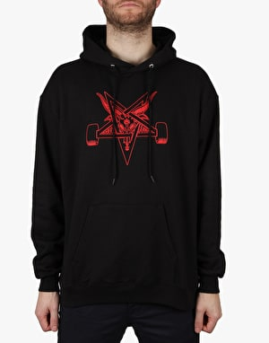 Thrasher Blackout Pullover Hoodie - Black/Red