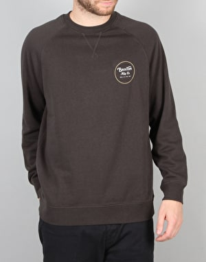 Brixton Wheeler Crew Fleece - Washed Black
