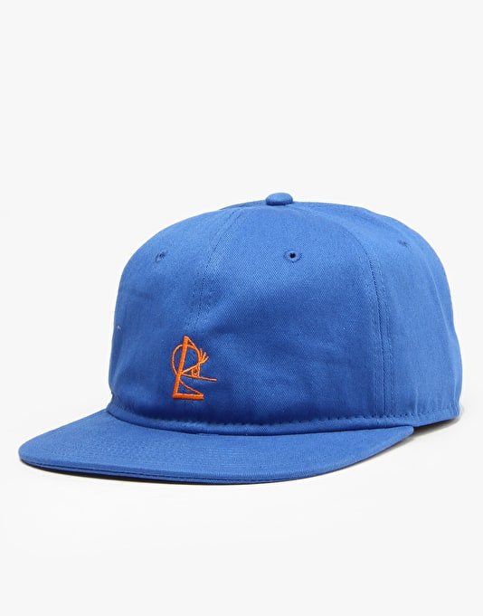 Isle 6 Panel Snapback Cap - Royal/Orange